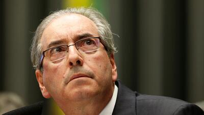 Eduardo Cunha, one of Brazil's most powerful politicians, was arrest...