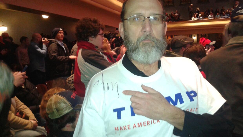 Kevin Dorland, partidario de Donald Trump