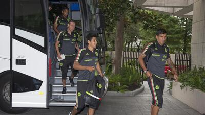 Llegada selección mexicana