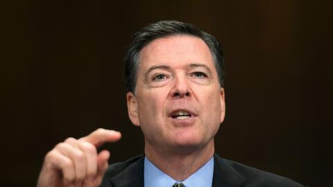 James Comey, exdirector del FBI, durante una comparecencia ante el Senad...