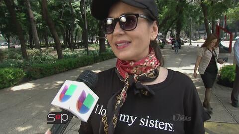 Yolanda Andrade salió a las calles a presumir el amor que siente por su...