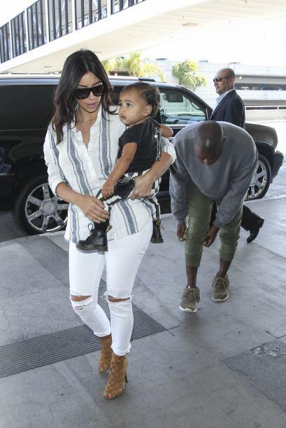 Kanye también estaba con ellas.