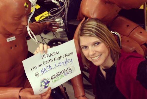 I'm on #EarthRightNow @NASA_Langley with a couple of (crash test) dummie...