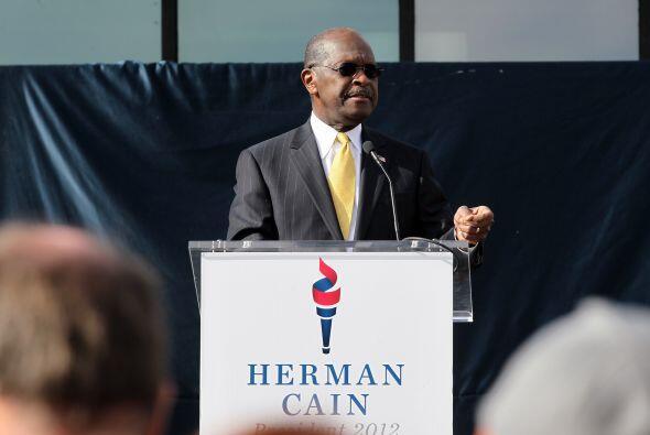 HERMAN CAIN- A pesar de ya estar fuera de la carrera a la presidencia de...