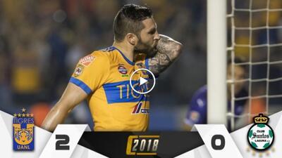¡Zarpazos de muerte! Tigres se lleva una ventaja ante Santos que parece definitiva