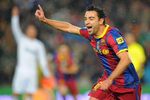 Xavi salió a gritar el gol que inauguraba el marcador.