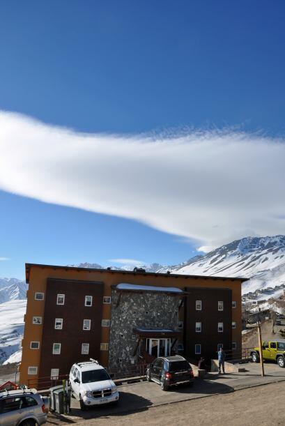 Una típica tarde en el centro de esquí de El Colorado.