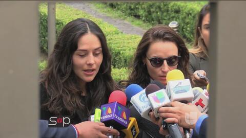 Primicia: Zuria Vega habló con la prensa de la muerte de su papá