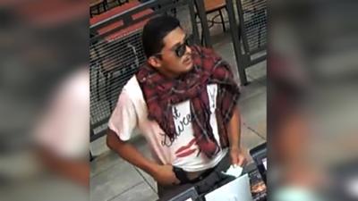El ladrón, identificado como José Felipe Fernández, muestra la pistola q...