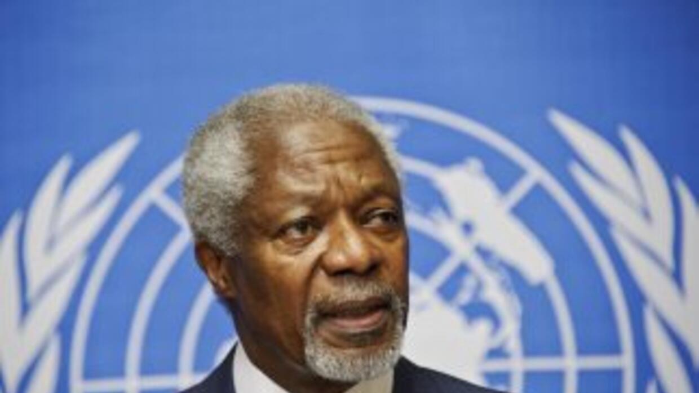 El enviado especial de la ONU para Siria, Kofi Annan.