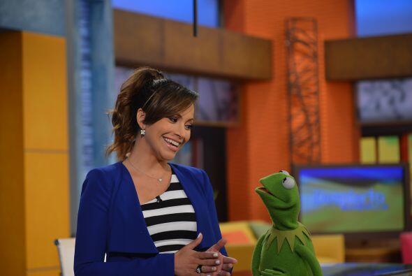 La rana Kermit quiso aprender a dar las noticias y sorprendió en su segm...