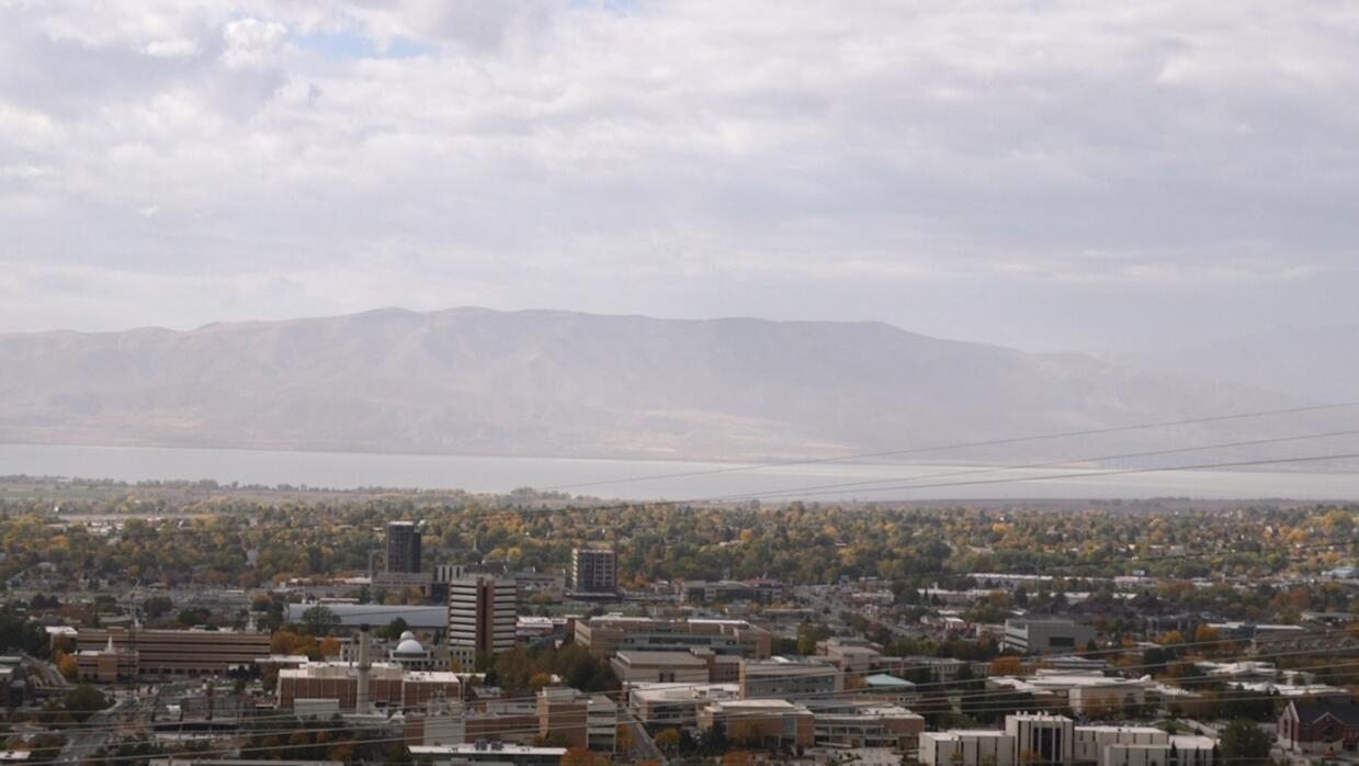La vista de Provo, una ciudad en Utah donde casi la totalidad de sus hab...