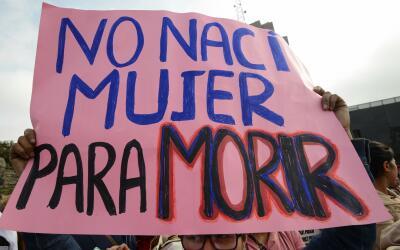 Imagen de archivo de una pancarta contra la violencia de género.