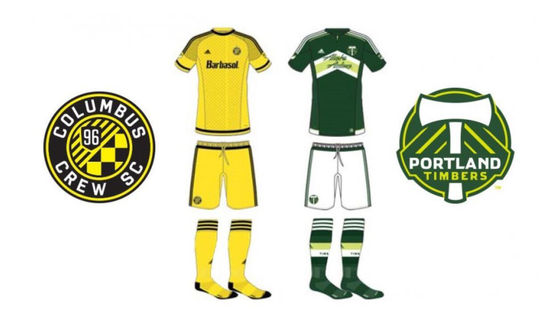 Uniformes de Columbus Crew SC y Portland Timbers