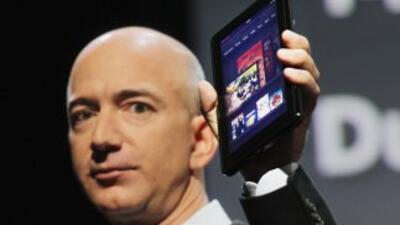 La tienda por internet Amazon presentó en Nueva York el Kindle Fire.