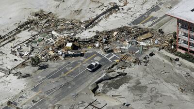 Te mostramos las calles devastadas de Mexico Beach, la zona cero del huracán Michael, en solo 45 segundos