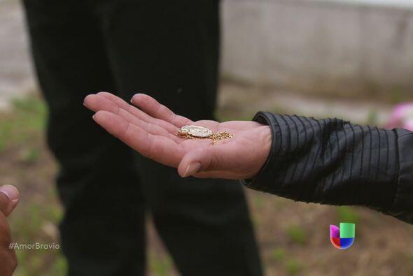 También la medalla que Daniel le prestó para que la cuidara.
