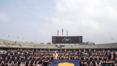 Más de 100 ex jugadores de Pumas se tomaron la foto que significó el fes...