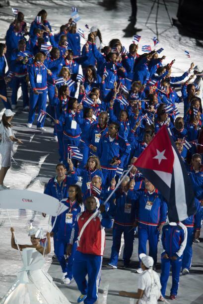 La delegación de Cuba.