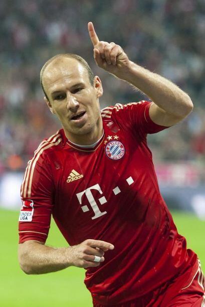 Robben volvió a concretar y tiene su 'doblete'. Bayern Munich gana 7 a 0...