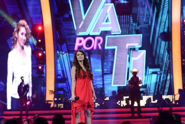 """En el tercer grupo, comenzó Chloé Malaise con """"Hoy ya me voy"""", de Kany G..."""