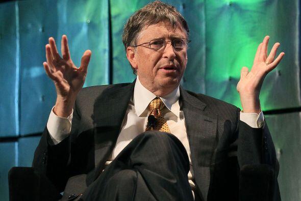 El tercero en la lista es el multibillonario Bill Gates, fundador de Mic...