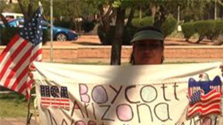Activista en apoyo al boicot de Arizona