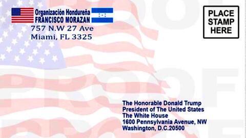 La postal que inmigrantes centroamericanos envían al presidente T...