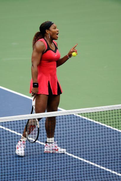 """Serena celebraría con un grito de """"c'mon!"""" (¡vamos!) antes de que la bol..."""