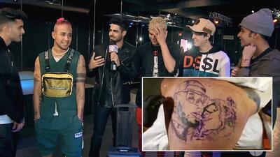 ¿Los chicos de CNCO se harían un tatuaje de sus novias como Anuel AA con Karol G?