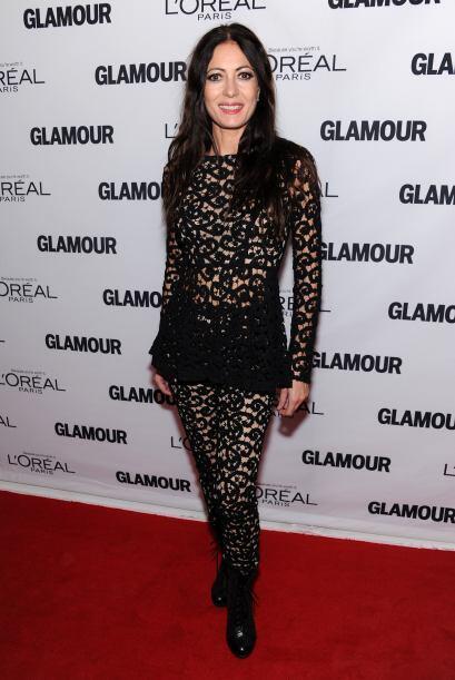 La diseñadora Catherine Malandrino sorprendió con un elegante encaje negro.