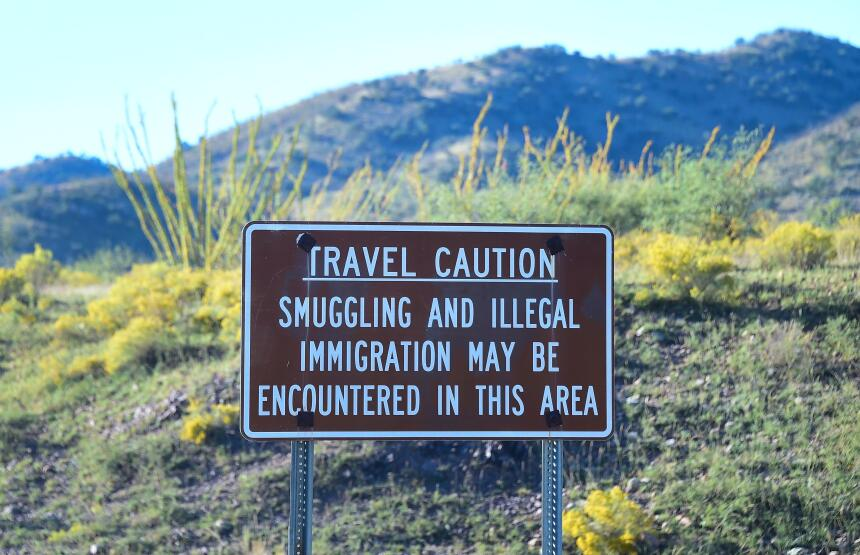 El muro fronterizo en Arizona