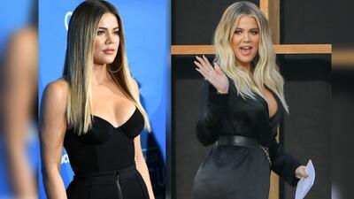 Hace cuatro meses, Khloe Kardashian (izquierda) lucía más...
