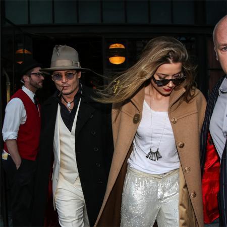Johnny Depp y Amber Heard en una foto de archivo