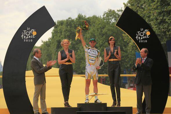 Cavendish, que logró su quinta etapa en el Tour 2010, invirtió en los úl...