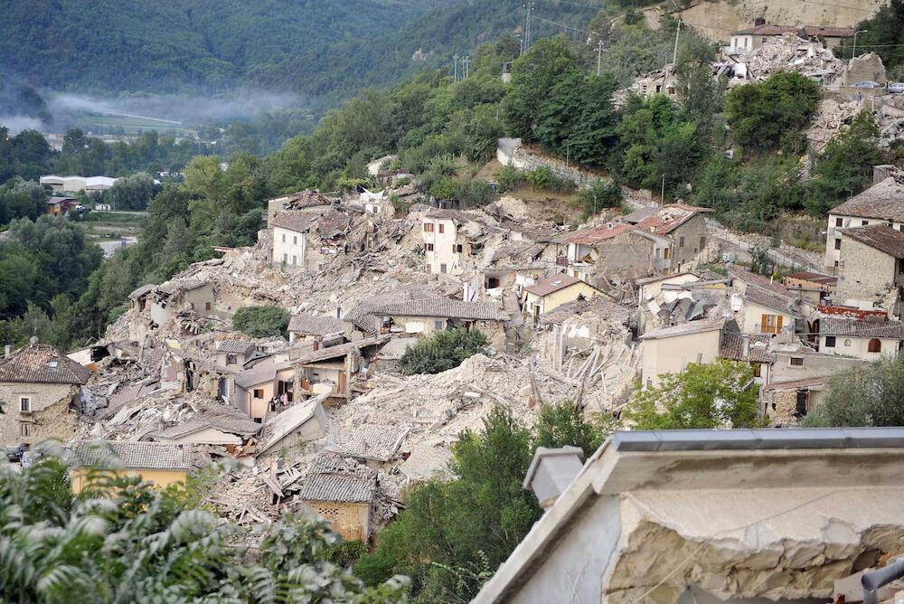 Vista panorámica de cómo ha quedado Pescara después del terremoto
