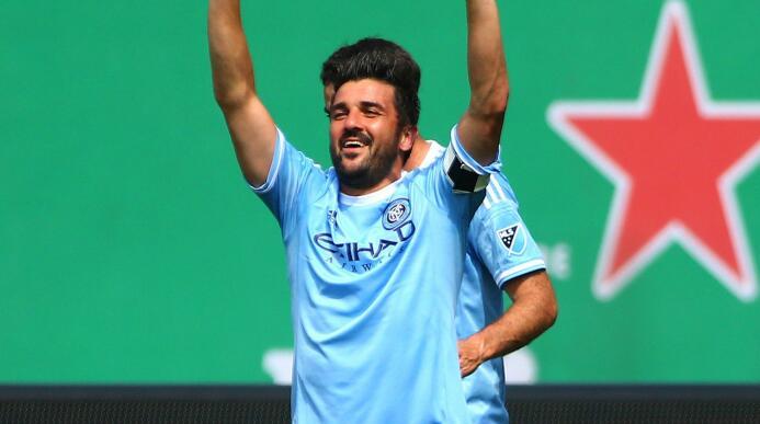 David Villa celebra su golazo ante Toronto FC