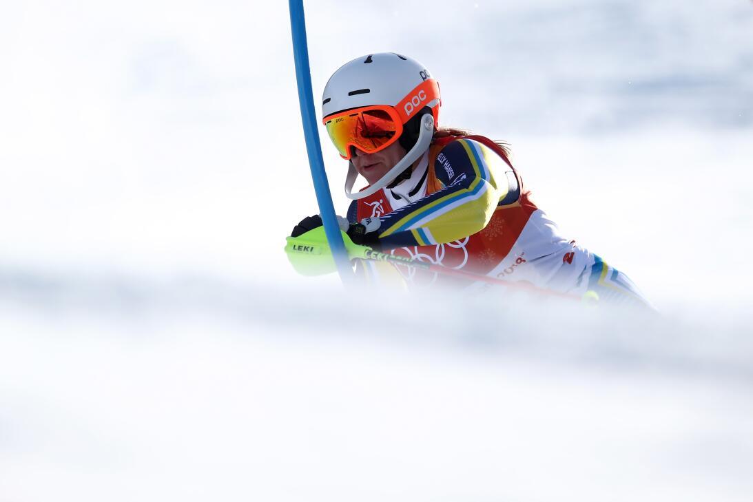 La esquiadora Estelle Alphand (Suecia) en el slalom.