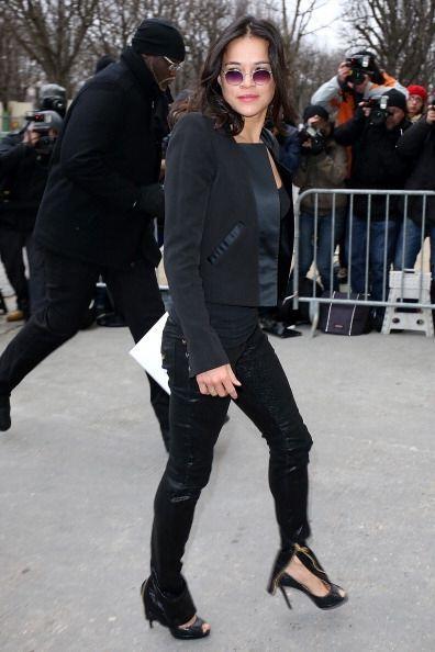 Michelle Rodriguez arrasó con cámaras y miradas en su llegada a la pasar...