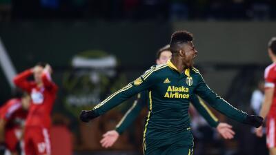 Dairon Asprilla celebra su gol ante FC Dallas