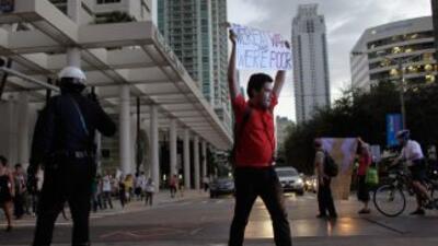 La zona de Brickell es el distrito financiero de Miami, donde los bancos...