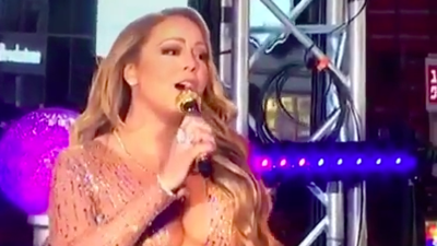 Mariah Carey intentó cumplir, pero alegó problemas con el sonido y al fi...
