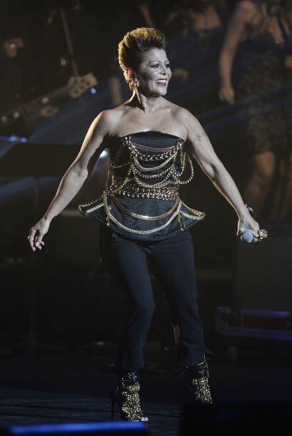 Alejandra Guzmán y Laura Pausini ofrecieron un concierto de carid...