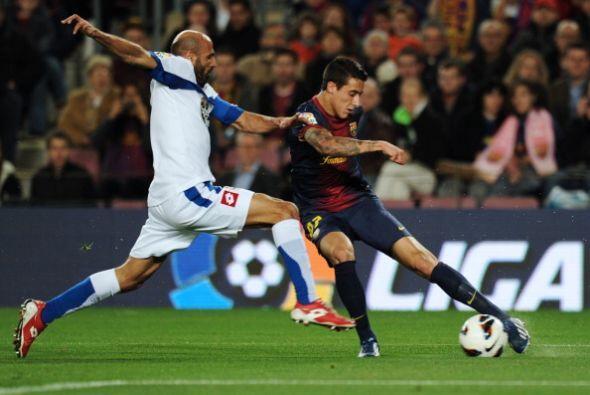 El dominió del Barcelona siguió. La reacción del Deportivo fue muy ténue.
