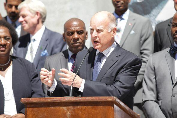 En la capital del país, eL Gobernador Jerry Brown, habló de los grandes...
