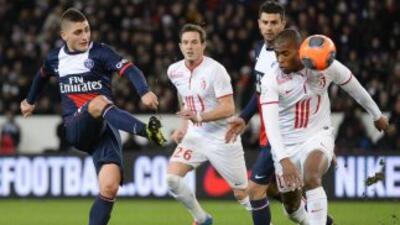Los parisinos iniciaron ganando, pero el Lille dio vuelta al marcador y...