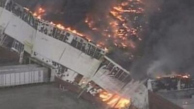 Incendio en una planta de General Electric en Kentucky. (Imagen tomada d...