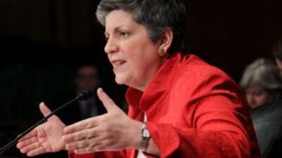 La secretaria de Seguridad Nacional, Janet Napolitano, fue la encargada...