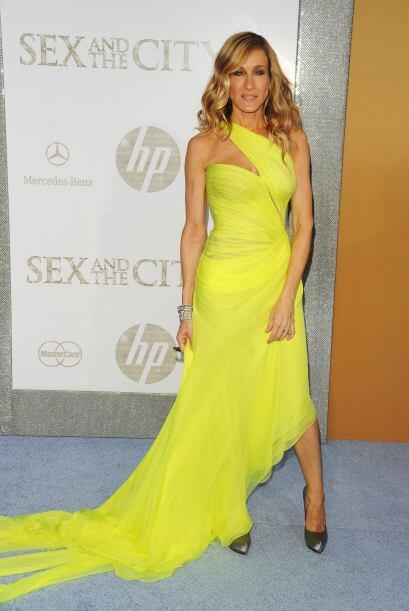 El amarillo es un color complicado para usar, pero Sarah Jessica Parker...