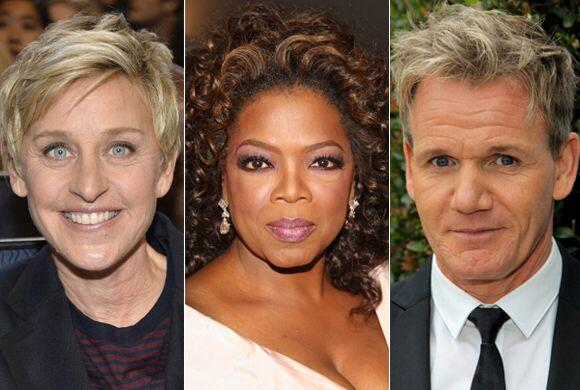Según la revista 'Forbes', Oprah Winfrey, Ellen DeGeneres y Simon Cowell...